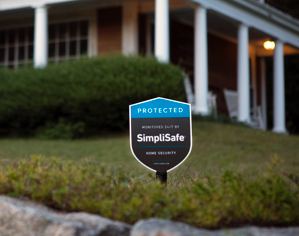 SimpliSafe Yard Sign