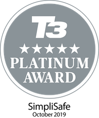 T3 Five Star Platinum Award - SimpliSafe October 2019